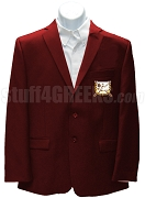 Delta Psi Chi Blazer Jacket with Crest, Burgundy