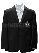 Delta Sigma Phi Blazer Jacket with Crest, Black