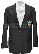 Delta Sigma Pi Ladies' Blazer Jacket with Crest, Black