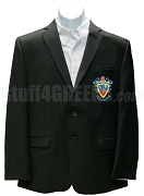 Delta Sigma Pi Men's Blazer Jacket with Crest, Black