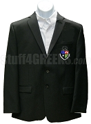 Delta Tau Delta Blazer Jacket with Crest, Black