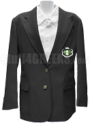 Delta Zeta Blazer Jacket with Crest, Black
