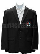 Epsilon Chi Nu Blazer Jacket with Crest, Black