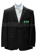 Epsilon Lambda Kappa Blazer Jacket with Greek Letters, Black