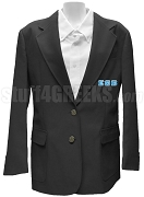 Epsilon Theta Beta Blazer Jacket with Greek Letters, Black