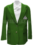 Gamma Gamma Chi Blazer Jacket with Crest, Forest Green