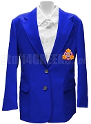 Gamma Kappa Phi Ladies Blazer Jacket with Crest, Royal Blue