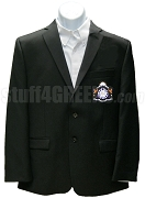Gamma Omega Delta Blazer Jacket with Crest, Black
