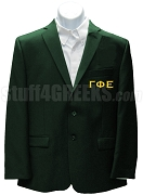 Gamma Phi Epsilon Blazer Jacket with Greek Letters, Forest Green