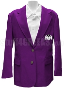 Gamma Rho Lambda Blazer Jacket with Crest, Purple