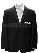 Gamma Sigma Omega Blazer Jacket with Greek Letters, Black