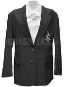 Gamma Xi Phi Ladies Blazer Jacket with Crest, Black