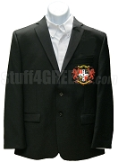 Gamma Zeta Rho Blazer Jacket with Crest, Black