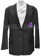 Iota Ch Kappa Blazer Jacket with Crest, Black