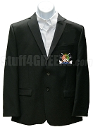 Iota Nu Delta Blazer Jacket with Crest, Black