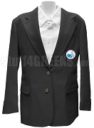 Jack & Jill Ladies Blazer Jacket with Crest, Black