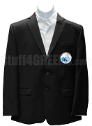 Jack & Jill Men's Blazer Jacket with Crest, Black