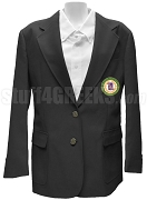 Kappa Delta Pi Ladies Blazer Jacket with Crest, Black