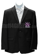 Kappa Lambda Chi Blazer Jacket with Crest, Black