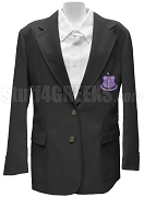 Kappa Lambda Xi Blazer Jacket with Crest, Black