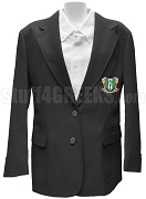 Kappa Phi Gamma Blazer Jacket with Crest, Black