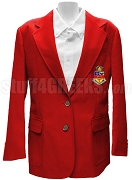 Kappa Psi Ladies' Blazer Jacket with Crest, Red