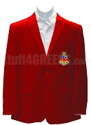 Kappa Psi Men's Blazer Jacket with Crest, Red