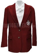 Kappa Psi Epsilon Blazer Jacket with Crest, Burgundy
