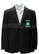 Kappa Psi Kappa Blazer Jacket with Crest, Black