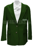 Kappa Xi Omega Blazer Jacket with Greek Letters, Forest Green