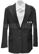 Kappa Zeta Phi Blazer Jacket with Greek Letters, Black