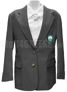 Lambda Omicron Chi Blazer Jacket with Crest, Gray