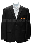 Lambda Omicron Delta Blazer Jacket with Greek Letters, Black