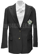Lambda Psi Delta Blazer Jacket with Crest, Coal Black