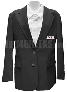 Lambda Sigma Pi Blazer Jacket with Greek Letters, Black