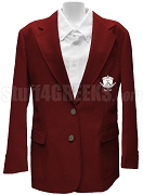 Lambda Theta  Nu Blazer Jacket with Crest, Burgundy