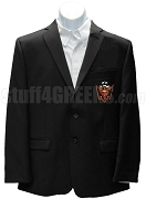 Malik Fraternity Blazer Jacket with Crest, Black