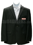 Men of D.I.S.T.I.N.C. Blazer Jacket with Letters, Black