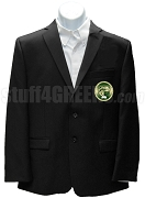 Mu Omicron Gamma Blazer Jacket with Crest, Black