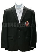 Mu Phi Sigma Blazer Jacket with Crest, Black
