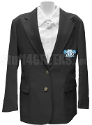 Mu Sigma Upsilon Blazer Jacket with Crest, Black