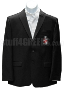Nu Alpha Phi Blazer Jacket with Crest, Black