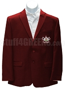 Nu Gamma Alpha Blazer Jacket with Crest, Maroon