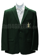 Nu Gamma Psi Men's Blazer Jacket with Crest, Forest Green