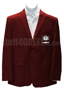 Nu Rho Sigma Men's Blazer Jacket with Crest, Crimson