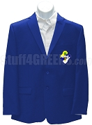 Nu Sigma Beta Blazer Jacket with Crest, Royal Blue
