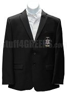 Omega Beta Psi Blazer Jacket with Crest, Black