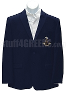 Omega Delta Blazer Jacket with Crest, Navy Blue