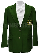Omega Phi Beta Blazer Jacket with Crest, Forest Green