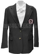 Omega Phi Chi Blazer Jacket with Crest, Black